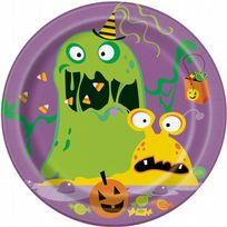 "Silly Halloween Monsters 7"" Dessert Plates (8)"